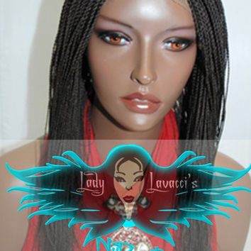 Fully Hand Braided Lace Front Wig 20 Inches #1 and 16 inches #2