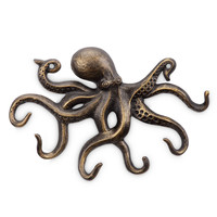 SPI HOME Aluminum Swimming Octopus with Tentacle Key Hooks