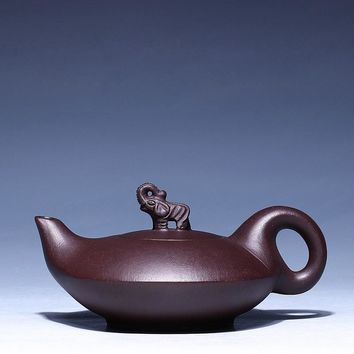 Yixing Elephant Purple Clay TeaPot