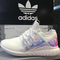 ADIDAS Fashion Flats Sneakers Sport Shoes White LASER
