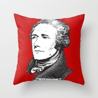 Hamilton Red Throw Pillow by Byebyesally