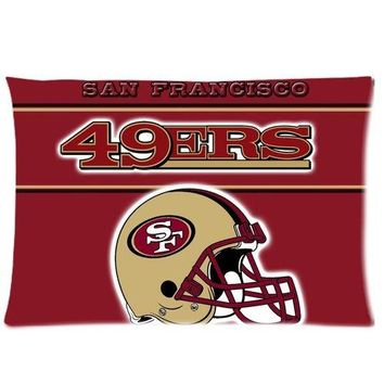 Custom Soft Flannel San Francisco 49Ers Zippered Pillow Case 20x30 Inch (one side) Comfortable For Lovers And Friend