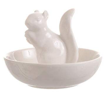 Squirrelly Snacks Ceramic Nut Bowl