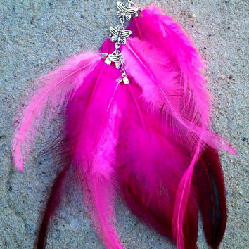Feather Roach Clip, Alligator Clip, Butterfly Brcaelet, Silver Bracelet, Medical Marijuanna, Smoking Accessories, Pot Head Gift, Jay Clip