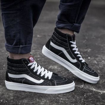 Vans Alligator stripes suede high pair shoes