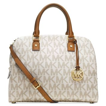 Michael Michael Kors Jet Set Travel Signature Large Womens Satchel