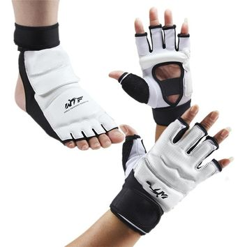 1 Set Adult Taekwondo Gloves Sparring  MMA Hand Foot Protector Cover Boxing Gloves Professional Boxing Gloves Foots Protection