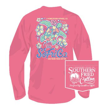 Our Gal Shelley Long Sleeve Tee in Pink Jam by Southern Fried Cotton