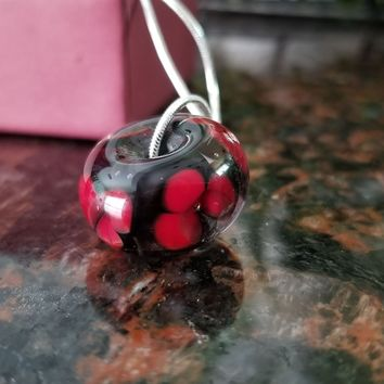 Hand Sculpted Glass Bead Necklace