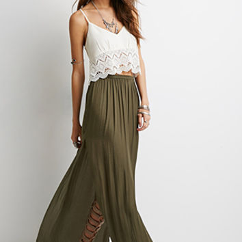 High-Slit Maxi Skirt