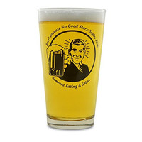 Because No Good Story Begins With Someone Eating A Salad Funny Beer Pint Glass Tumbler- 16. oz.- St. Patrick's Day Gift For Him (Dad, Son, Brother, Uncle, Best Friend, Boss, Co-Worker)