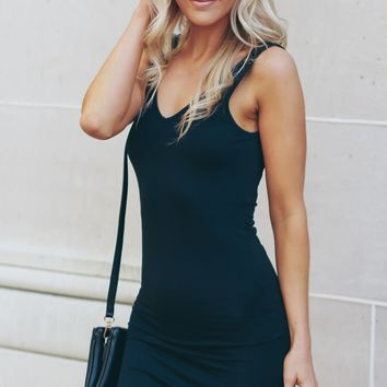 Bodycon Tank Dress Black.