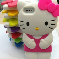 Silicone Hello Kitty iPhone 4/4s Case by AnnasPhoneCases on Etsy