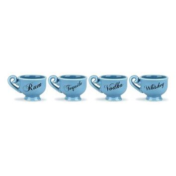 Barbuzzo 'Tea Party' Ceramic Shot Glasses (Set of 4) | Nordstrom