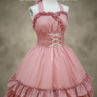 Beautiful Ladies Pink Straps Sweet Lolita Dress