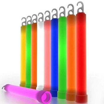 ONETOW 10Pcs Outdoor Survival Emergency Signal Light Up Glow Sticks Festival Party Decor Favors Neon Camping Tool
