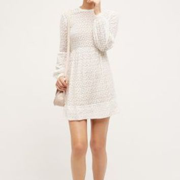 Erin Fetherston Nimbin Mini Dress in Ivory Size: