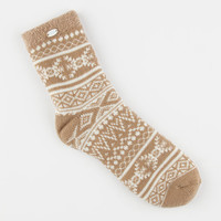 Ugg Fair Isle Womens Fleece Lined Socks Sugar Pine One Size For Women 26384142301