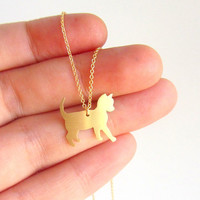 Cat choker necklace, 14k gold filled chain, animal jewelry.