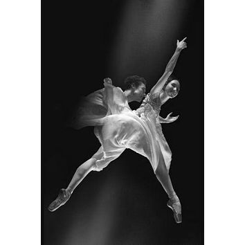 American Ballet poster Metal Sign Wall Art 8in x 12in Black and White