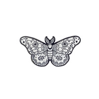 WHITE MOTH PIN
