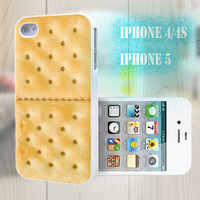 unique iphone case, i phone 4 4s 5 case,cool cute iphone4 iphone4s 5 case,stylish plastic rubber cases cover, funny yellow cookie p1008