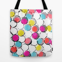 Circle Painting  Tote Bag by Jacqueline Maldonado