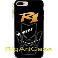 Yamaha R1 Black Logo Automotive CASE COVER iPhone 6s/6s+7/7+8/8+,X and Samsung