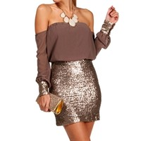 Mimi- Taupe Homecoming Short Dress