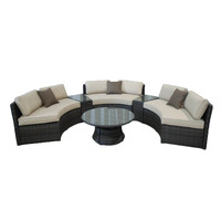 2016 Home used circle shape rattan garden sofa furniture