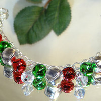 Earring Bracelet  Gift Christmas Jewelry Set-Jingle Bell