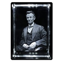 Abraham Lincoln 3D Laser Crystal Key Chain - Royal Bobbles - Historical Figures - Key Chains at Entertainment Earth