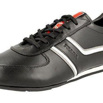 Prada Men's 4e2735 O3y F0a64 Leather Sneaker