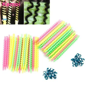 26Pcs Long Plastic Styling Barber Salon Tool Spiral Hairdressing Hair Perm Rod #Y207E# Hot Sale
