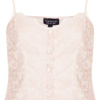 BUTTON FRONT LACE CAMI