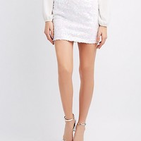 Holographic Sequin Mini Skirt | Charlotte Russe