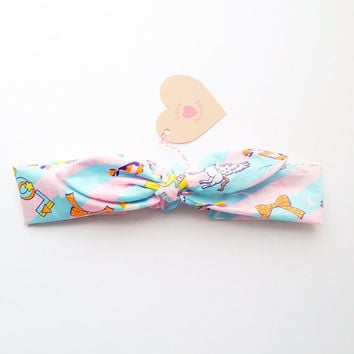 Pretty Cute Bunny bow Bandana style Bow Headband Get Lucky happy Galaxy queen :) Spring Summer collection by Love Factory