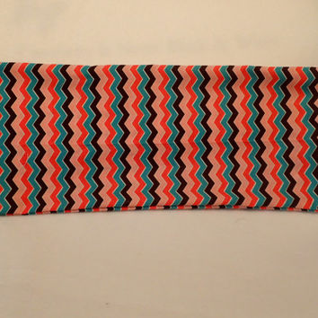 Neck Heating Pad Shoulder Cold Pack Lower Back Medium Sized Rice Bag Black Red Pink Green Chevron Modern Colors