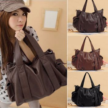 Cool Casual Pocket Hobo Tote Handbag