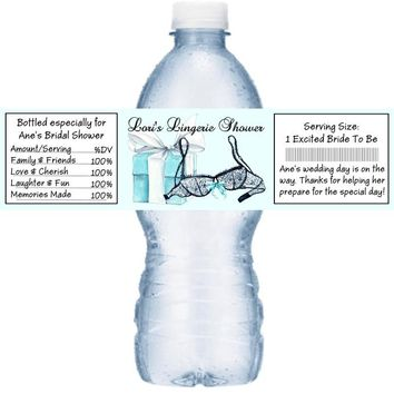 21 Lingerie Bridal Shower Water Bottle Labels
