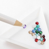 4PCS Wax White Gem Crystal Rhinestones Picker Pencil Pen FOR Nail Art