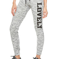 Graphic Space Dye Joggers with Foldover Drawstring Waist