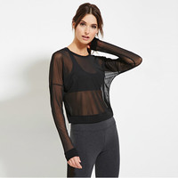 Black Mesh See Thought Sweater