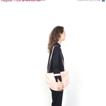 ON SALE oversized clutch bag - pink leather handbag - pink handbag - crossbody leather purse - crossbody clutch - leather crossbody handbag