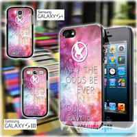 Hunger Games Quote may the odds be ever in your favor MJM iPhone 4, iPhone 4s, iPhone 5, iPhone 5s, iPhone 5c, Samsung Galaxy S3, S4 Case