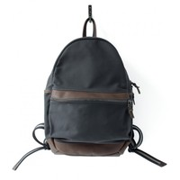 Round Backpack in Charcoal Canvas and Horween® Leather – Made in USA