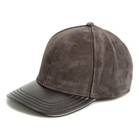 Men's rag & bone Suede & Leather Baseball Cap - Black
