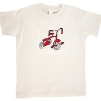 Organic Cotton Tee, Red Trike, Children's Clothing