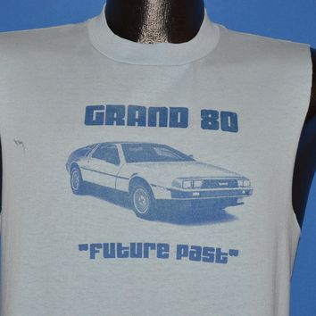 80s Grand 80 DMC Delorean Future Past t-shirt Medium