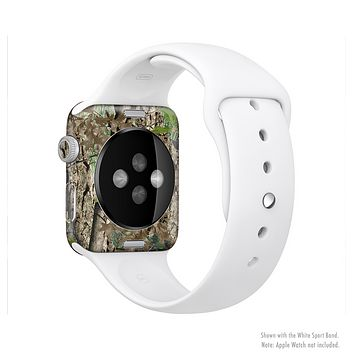 The Vibrant Real Woods Camouflage Full Body Skin Set for the Apple Watch